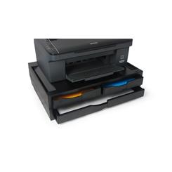 Support Imprimante Noir 2 tiroirs A4 1 tiroir A3 jusqu'à 40 Kg