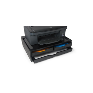 support imprimante noir 2 tiroirs a4 1 tiroir a3 jusqu 39 40 kg gp associes. Black Bedroom Furniture Sets. Home Design Ideas