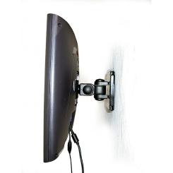 Support Mural LCD pivot noir jusqu'à 15Kg