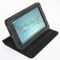 Folio Case for Samsung Tab 2 7.0 Black Leather