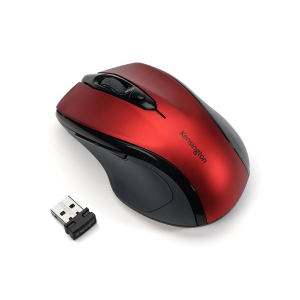 Souris optique sans fil Pro Fit 2.4Ghz - Taille moyenne- Rouge Rubis