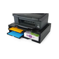 Support Imprimante Noir  3 plateaux jusqu'à 40 Kg