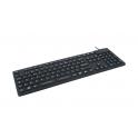 Clavier étanche IP68 105T AZERTY USB/PS2 Silicone Noir