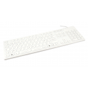 Clavier étanche IP68 105T AZERTY Combo Silicone Blanc