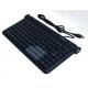 Clavier AZERTY Compact MINIMAX 2 ports USB Noir