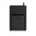 Lecteur de carte à puce Cherry. PC/SC. insertion à plat  USB Noir