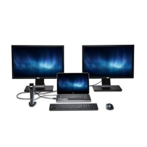 Station d'accueil universelle USB 3.0 DUAL, avec VGA/DV/HDMI & Ethern