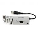 Powered USB minidock with ethernet
