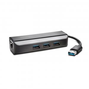 UA3000E Adaptateur Ethernet et hub 3 ports USB 3.0